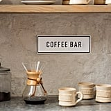 Embossed Metal Coffee Bar Sign