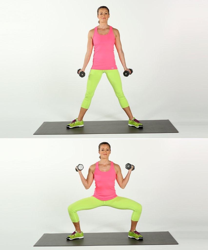 Add Biceps Curls to Squats