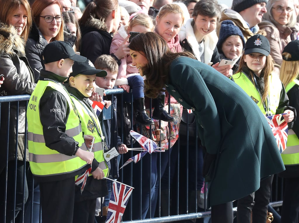 The Duchess of Cambridge Chatting to Mini Police Is the Cutest Thing You'll See All Day