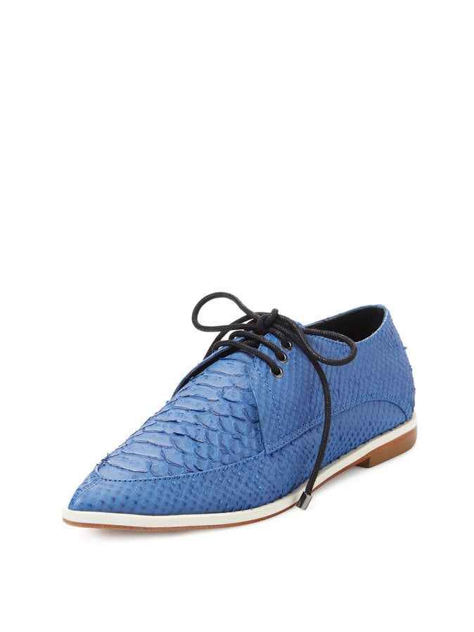 Tibi Kern Snake Embossed Leather Oxford ($485)