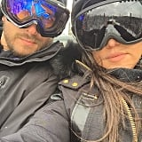 Kourtney and Scott Disick posed for a skiing selfie.