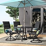 Avalon 5-Piece Sling and Steel Patio Dining Set