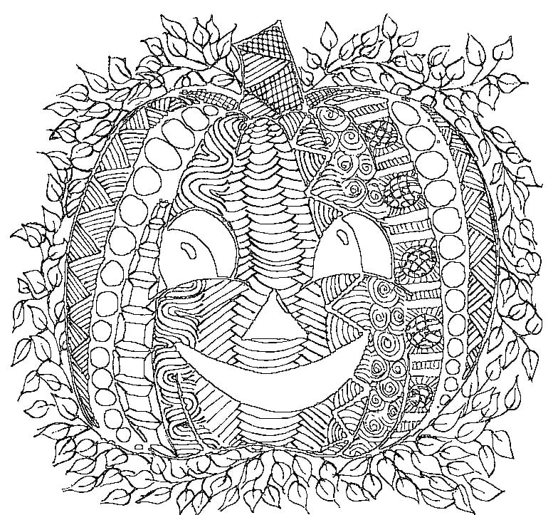It is an image of Halloween Coloring Pages Free Printable for pdf