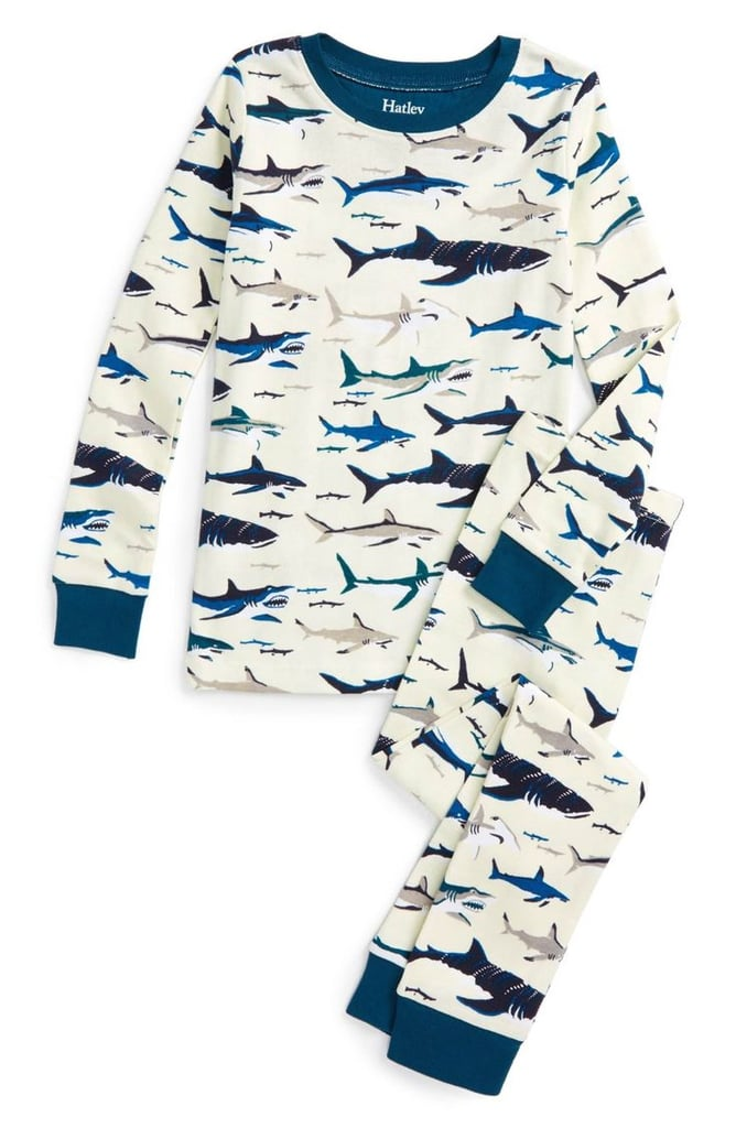 Shark Printed Tee and Pants Pajama Set