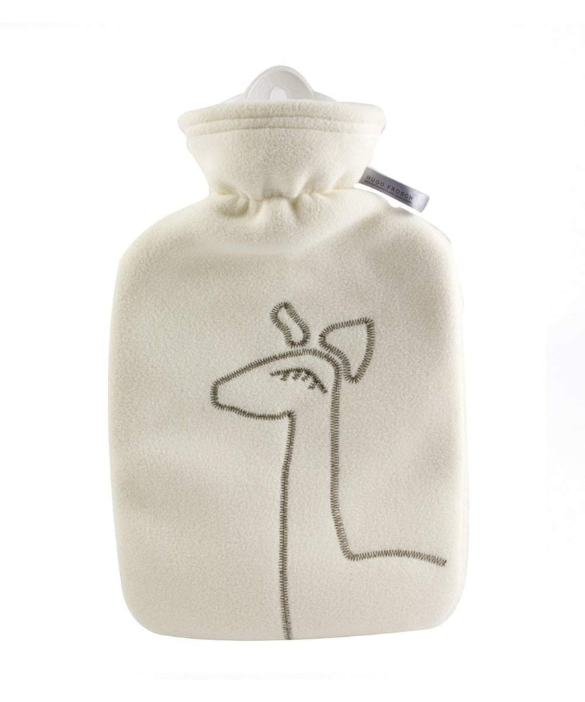 Hugo Frosch Hot-Water Bottle With Fleece Cover With Deer Application in White ($26)