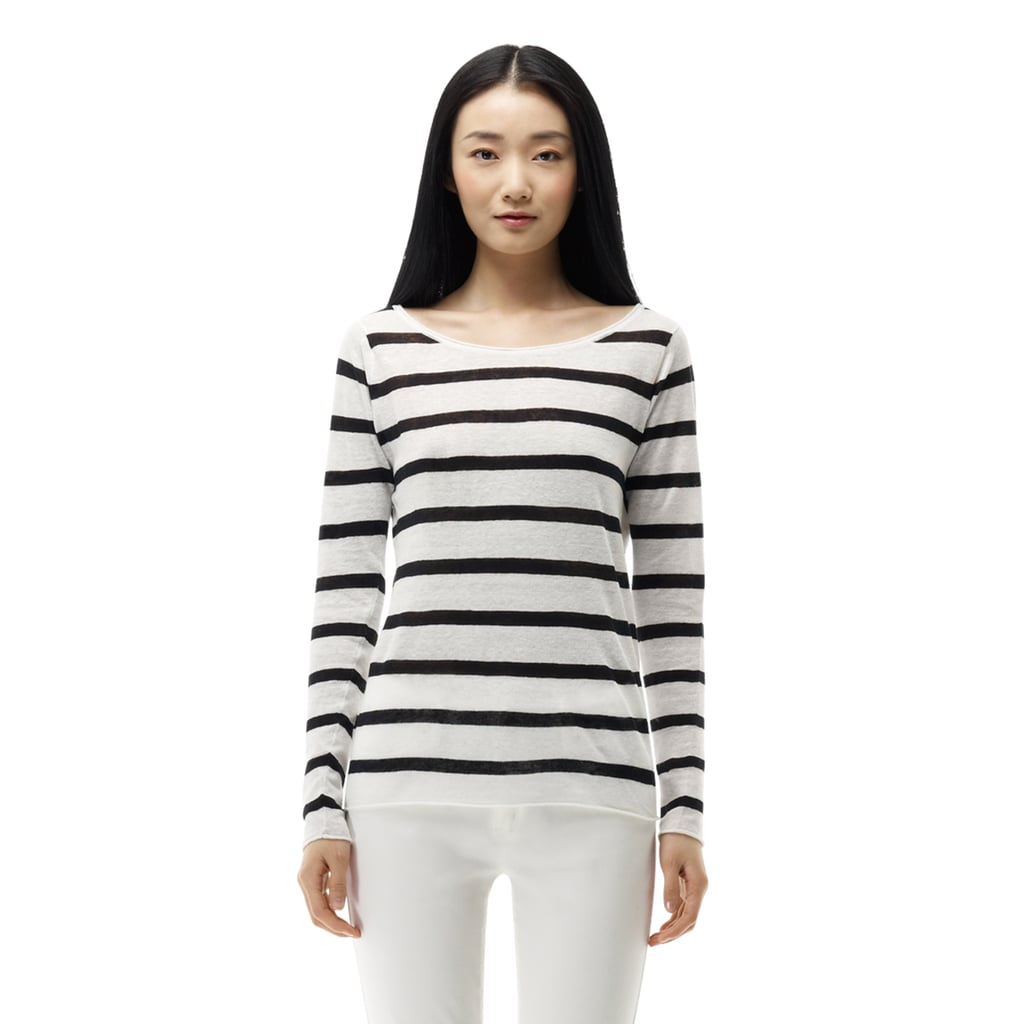Few things are more deserving of a spot in your wardrobe than a classic black-and-white striped sweater. If you don't have one, Club Monaco's basic pick ($90) is ready to fill the void.