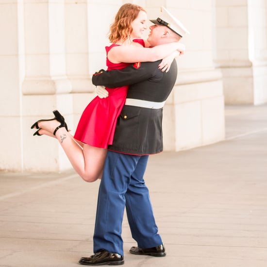 Military Couple Engagement Session in Washington DC
