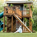 Dad Builds Daughters Huge Playhouse