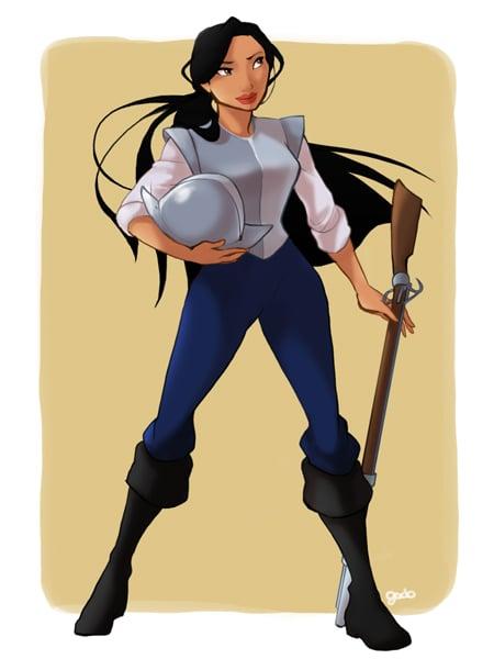Pocahontas in John Smith's Clothing