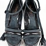 Louis Vuitton Suede Platform Heels  ($500)