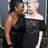 Pictured: Tarana Burke and Michelle Williams