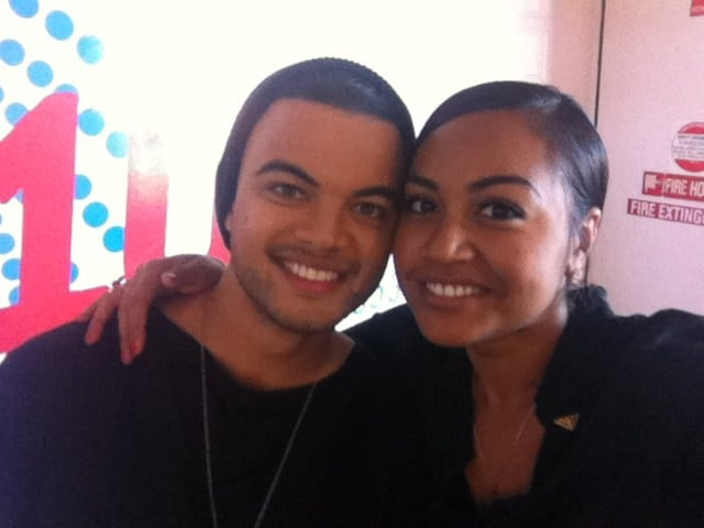 Guy Sebastian and Jessica Mauboy caught up. Source: Twitter user jessicamauboy