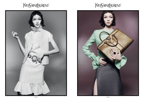 Pastels and jewel tones are all featured in the YSL Spring '12 ads. Source: Fashion Gone Rogue