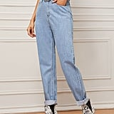 Shein Light Wash Mom Jeans Without Belt