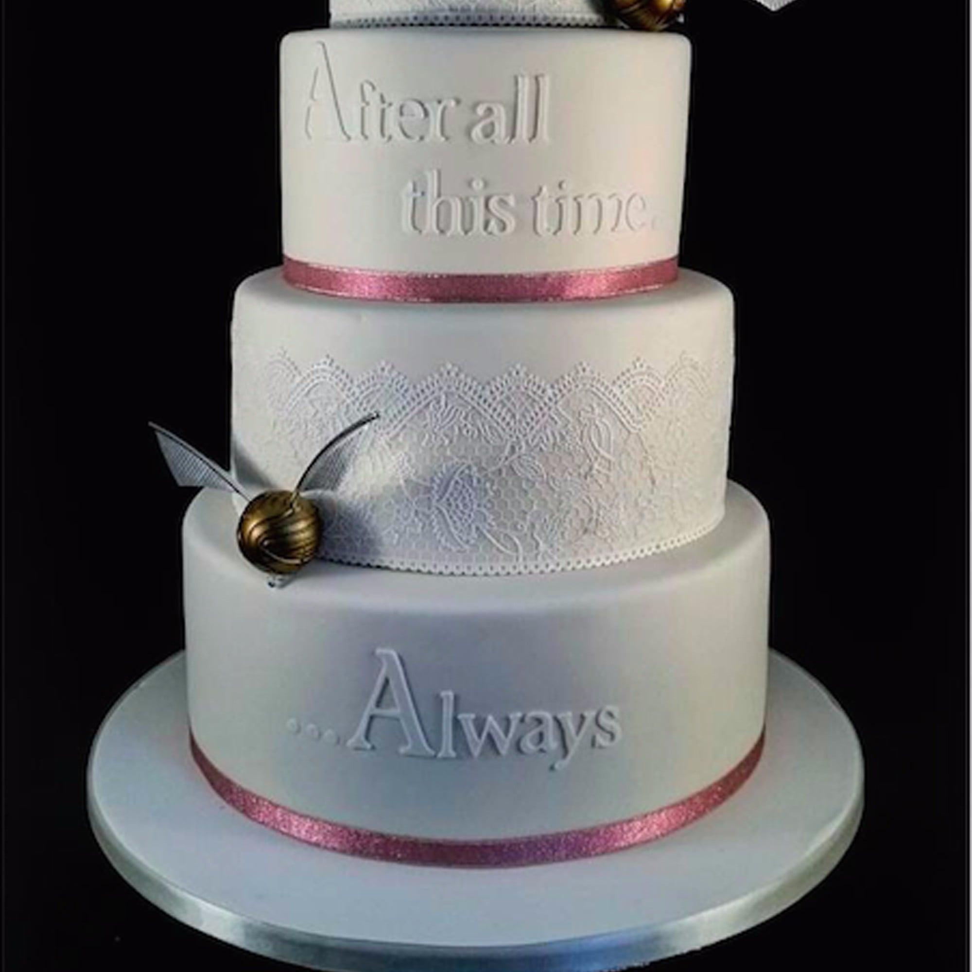 Harry potter wedding cakes popsugar food junglespirit Gallery