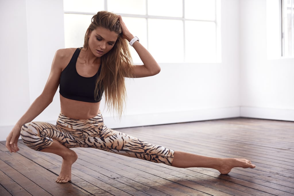 Tights, Running Bare. Sports bra,  Adidas. Editorial Shoot: Photographer: Dave Wheeler Stylist: Carina Rossi Hair and Makeup: Tobi Henney