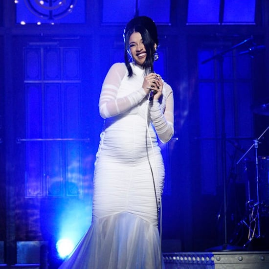 Cardi B SNL White Dress 2018