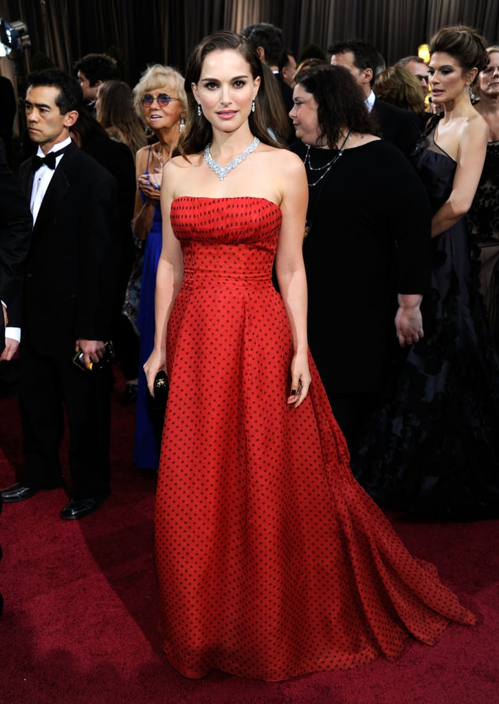 Natalie Portman has also stepped out in vintage Christian Dior Couture. At the 2012 Oscars, Portman wore a strapless red gown originally designed in 1954.
