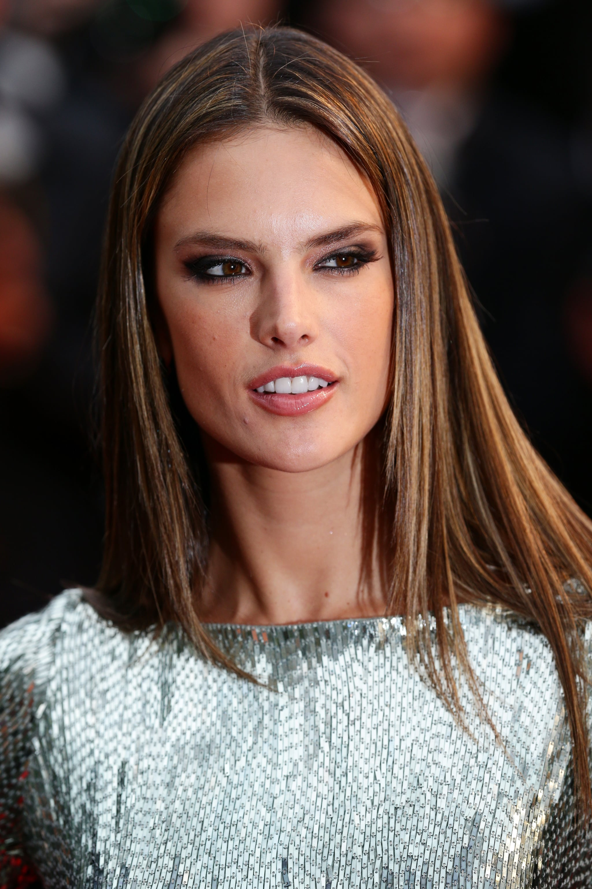Alessandra Ambrosio styled her hair pin-straight for the All Is Lost | 100+  Glamorous Hair and Makeup Looks From the Cannes Red Carpet | POPSUGAR Beauty  Photo 24