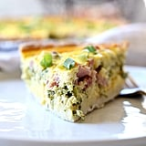 Kale and Ham Greek Yogurt Quiche