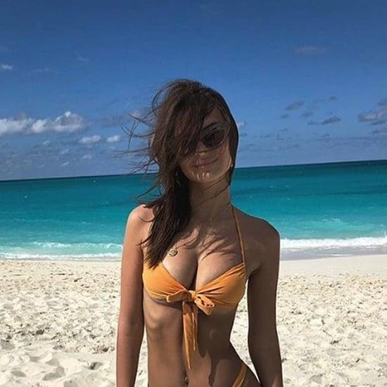 Emily Ratajkowski Orange Bikini 2018