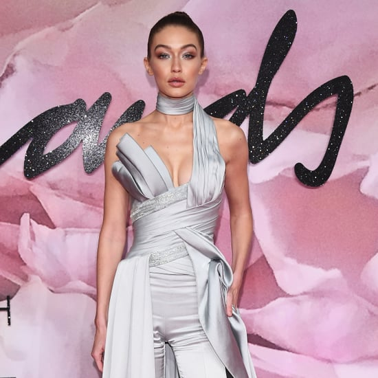 Gigi Hadid in Atelier Versace at British Fashion Awards 2016
