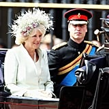 In June 2008, Camilla and William travelled together in a horse-drawn carriage during the Trooping the Colour parade.