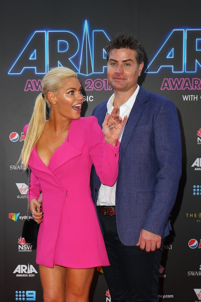 "The Bachelorette Australia's hottest new couple Sophie Monk and Stu Laundy were in attendance at the 31st ARIA Awards in Sydney, today. They took some photos together before Stu stood back and watched Sophie work her magic in a hot pink jacket-dress and Saint Laurent heels. It was too cute.  Last month, Stu told POPSUGAR Australia that he was ""over the moon"" to be with Sophie, and it looks like nothing has changed. Scroll to see all the sweet snaps from their red carpet appearance."