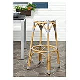 Vichy Wicker Patio Barstool
