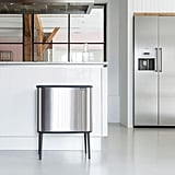 Small Brabantia Bo Touch Trash Can in Steel