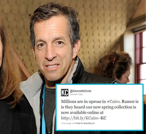 Kenneth Cole Causes Outrage With Cairo Tweet and Apologises