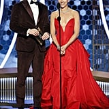Chris Evans and Scarlett Johansson at the 2020 Golden Globes