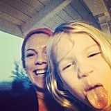 "Pink and Willow Hart shared a selfie as part of Today's ""Love Your Selfie"" campaign. Source: Twitter user Pink"