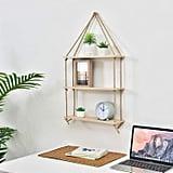 Light Wood Swing Storage Shelves