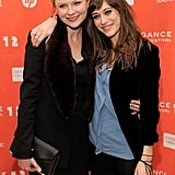 Kirsten Dunst and Lizzy Caplan were all smiles at Sundance.