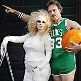 Jessica Simpson and Eric Johnson in Halloween costumes.