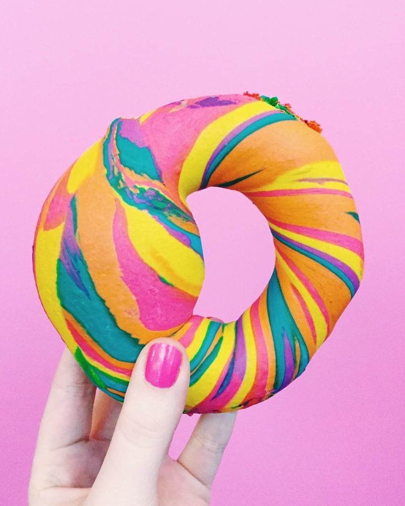 Rainbow Bagels From the Bagel Store