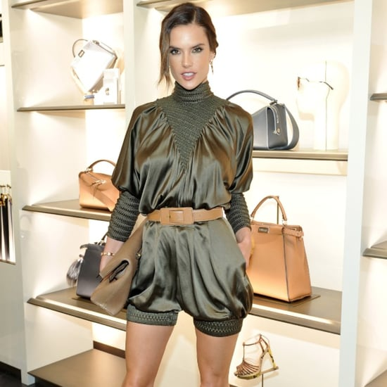Alessandra Ambrosio Wears Fendi Romper