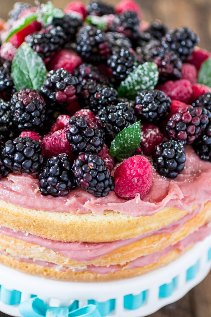 Naked Cake With Raspberry Brigadeiro