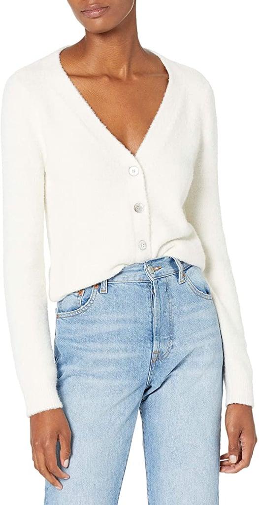 The Drop Francine V-Neck Button-Front Cozy Cardigan