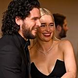 Pictured: Kit Harington and Emilia Clarke