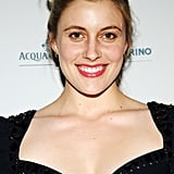 Greta Gerwig wore a black dress to the Grand Chefs Dinner in NYC.