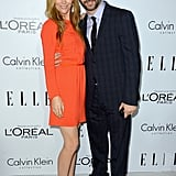 Leslie Mann stuck close to her husband Judd Apatow.