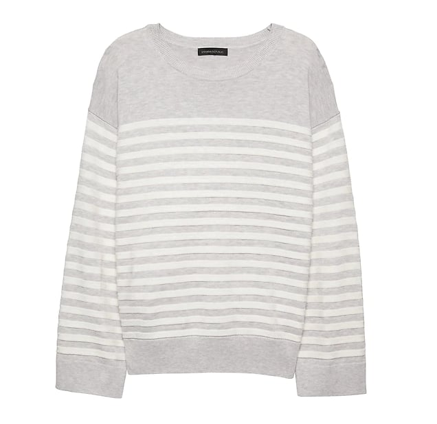 Washable Merino Wool Blend Mariner Stripe Sweater