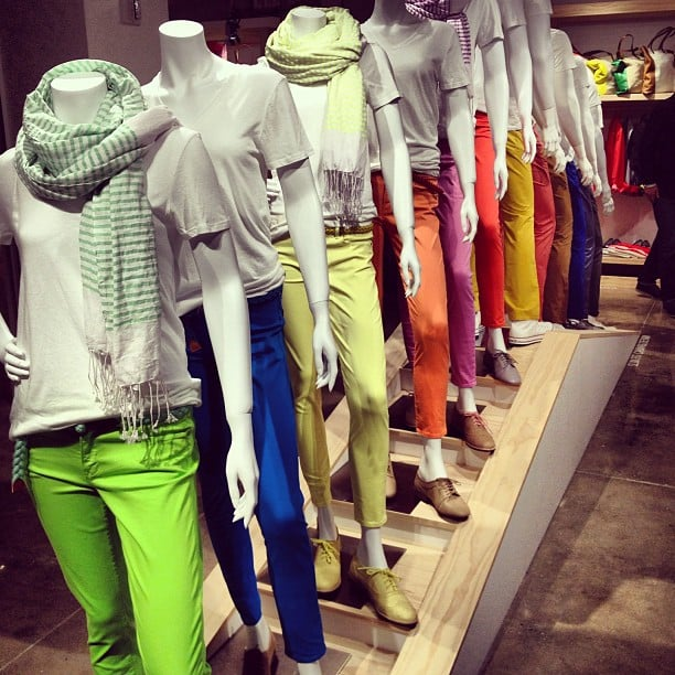 Gap's Spring preview was all about colorful pants — we couldn't decide which pair we liked best!