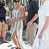 Meghan Headed Out For the Day in a Reformation Dress and Sarah Flint Sandals