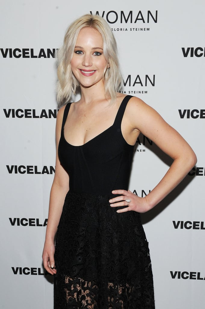 Is it just us, or does Jennifer Lawrence get more gorgeous every time we see her? On Wednesday, the actress attended the New York premiere of activist Gloria Steinem's new show, Woman, looking like an absolute dream. Clad in a stunning black lace dress, Jennifer was all smiles as she struck a handful of poses on the red carpet. This is just the latest we've seen of the star since she popped up at CinemaCon with Chris Pratt and debuted her latest film, A Beautiful Planet, in NYC, although we did catch her having a little fun with photographers while walking her dog last month. Keep reading to see more of Jennifer, and then feast your eyes on her hottest bikini moments.