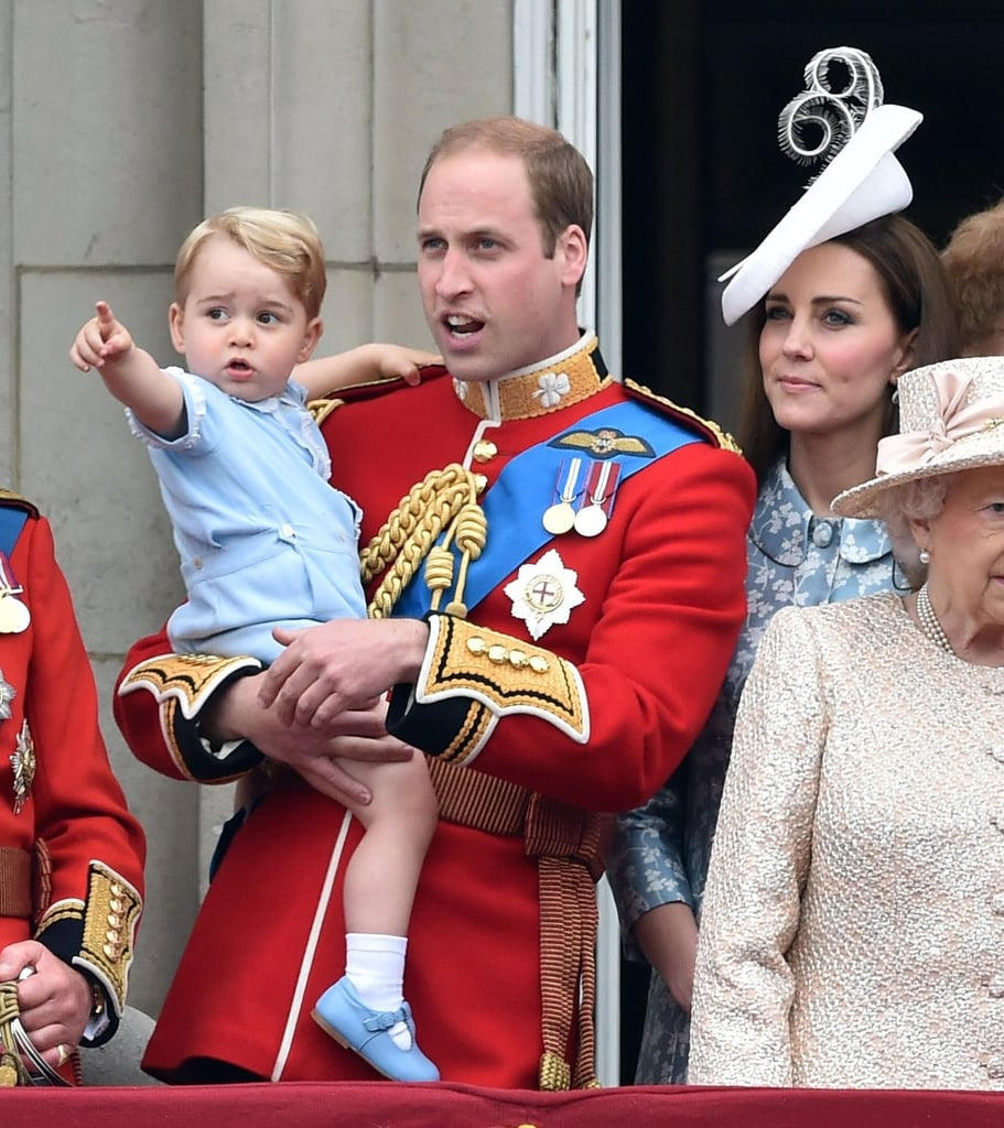Prince George And Kate Middleton At Trooping The Colour