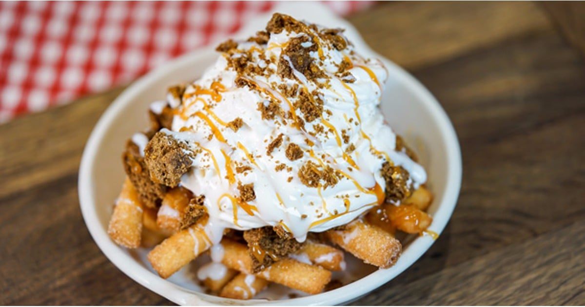PopsugarLivingHoliday FoodDisneyland Gingerbread Funnel Cake FriesImportant Announcement: Disneyland Now Has Gingerbread Funnel Cake FriesDecember 1, 2017 by Kelsey GarciaFirst Published: November 14, 2017312 SharesChat with us on Facebook Messenger. Learn what's trending across POPSUGAR.Image Source: DisneyDisney is constantly adding new menu items to its holiday lineup, and the latest one is really good. Exclusively at Disney California Adventure's Award Wieners, visitors can indulge in what might be the result of a dessert-themed round of Mad Libs: gingerbread funnel cake fries. Disney announced the decadent holiday dessert in a recent post on the Disney Parks Blog. It basically consists of funnel cake that's been shaped into stringy fries and topped with gingerbread crumbs, a dollop of whipped cream, and a caramel drizzle. Related:It's a Christmas Miracle! Disney's Holiday Menu Includes a Spiked Hot Chocolate FlightThough it hasn't been available for long, parkgoers already seem to be catching on. A Disne - 웹