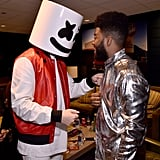 Pictured: Marshmello and Khalid
